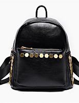 Women PU Sports Casual College Wind Sequins Rivet Large Capacity Outdoor Tote Backpack School Travel Bag