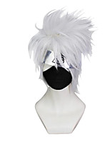 Perruques de Cosplay Naruto Hatake Kakashi Gris Court / Droite Anime Perruques de Cosplay 23 CM Fibre synthétique Masculin