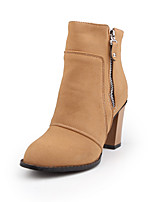 Women's Shoe Fall / Winter Fashion Boots / Round Toe Boots Party & Evening / Dress / Casual Chunky Heel Split Joint
