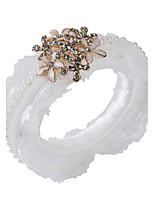 Set of 2 Circle Rose Flower Napkin Rings for Wedding Set the Tablecloth
