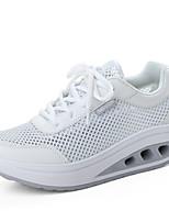 Damen-Sneaker-Sportlich-Tüll-Flacher Absatz-Komfort-Schwarz / Grün / Rosa / Weiß / Grau
