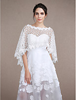 Women's Wrap Capelets Sleeveless Lace Ivory Wedding / Party/Evening Bateau 30cm Lace Pullover