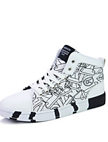 Men's Sneakers Spring / Fall Comfort Fabric Casual  Black / Blue / Red / White / Black and White Walking