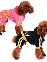 Hunde Kapuzenshirts Schwarz / Rosa Hundekleidung Winter / Frühling/Herbst einfarbig / Buchstabe & Nummer Lässig/Alltäglich Other