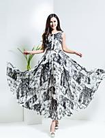 BORME® Femme Col Arrondi Sans Manches Maxi Robes-Y028C