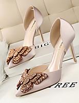 Women's Sandals Summer Sandals / Pointed Toe Silk Dress Stiletto Heel Applique Others
