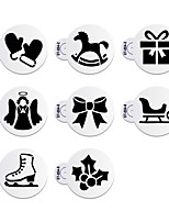 8Pcs Christmas Stencils Template for Cookie Hat stencil  Cupcake Stencil Set Cake Decorating Tool ST-854