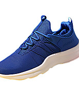 Men's Sneakers Spring / Fall Comfort Tulle Athletic Flat Heel Lace-up Black / Blue / Red / White Sneaker