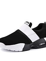 Da donna-Sneakers-Tempo libero / Ufficio e lavoro / Casual-Punta arrotondata / Ballerine-Zeppa-Di corda-Nero / Bianco
