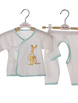 Baby Casual/Daily Solid Clothing Set-Cotton-Summer / Spring-Blue / Yellow Set