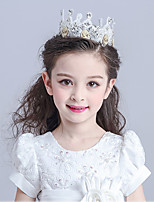 Flower Girl's Alloy / Polyester Tiaras Headpiece-Wedding / Special Occasion Headbands 1 Piece Oval