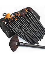 32pcs Makeup Brushes Set Goat Hair Portable Wood Face ShangYang(Brush Package)