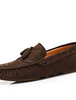 Heren Platte schoenen Lente / Zomer / Herfst / Winter Gepunte neus / Platte schoenen SuèdeHuwelijk / Kantoor & Werk / Informeel / Feesten