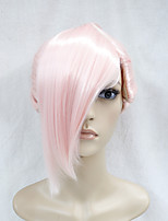 Japanese High-quality Synthetic Hair Light Pink Anime Cosplay Costume Short  Ponytal Wig