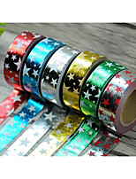 Star and Bronzing Paper Tape 1.5CM*10M Christmas Series