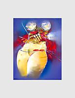 Ручная роспись Абстракция / Телесный Картины маслом,Modern 1 панель Холст Hang-роспись маслом For Украшение дома
