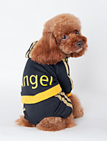 Dog Clothes/Clothing Black / Pink Winter Letter & Number Sports, Dog Clothes / Dog Clothing