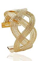 Pulseras de puño 1 pieza,De Moda Forma de Tubo Dorado / Plateado Legierung Joyas Regalos