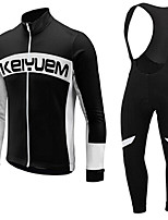 KEIYUEM®Spring/Summer/Autumn Long Sleeve Cycling Jersey+long Bib Tights Ropa Ciclismo Cycling Clothing Suits #L69