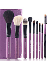 10Pcs Wool Brush Makeup Brush Set Full Package Makeup Tools