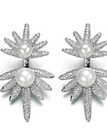 Stud Earring Jewelry 1 pair Fashionable Imitation Pearl Silver Daily / Casual
