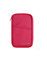 Travel Passport Wallet Luggage Accessory Fabric Black / Red KUSHUN™ / BirdRoom®