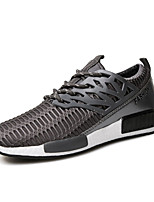 Men's Sneakers Spring / Fall Styles / Round Toe Tulle Casual Flat Heel Others Black / Blue / White / Gray Running