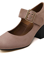 Women's Heels Fall Heels / Square Toe PU Casual Flat Heel Others Black / Pink Others