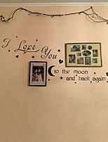 37.5*57.5CM I Love You To The Moon And Back Again Quotes Wall Decals Decorative Stickers Girls Room