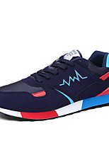 Men's Sneakers Spring / Fall Comfort Synthetic Casual Flat Heel  Black / Blue / Purple / Red Walking