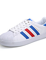 Men's Flats Spring / Summer / Fall Comfort PU Casual Flat Heel Lace-up Black / Blue / White / Gold Others