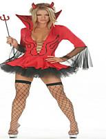 Costumes Vampire Halloween Rouge / Noir Couleur Pleine Térylène Jupe / Coiffure