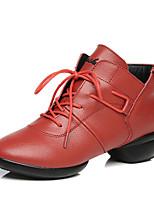 Non Customizable Women's Dance Shoes/ Modern Boots / Sneakers Low Heel Practice / OutdoorBlack /