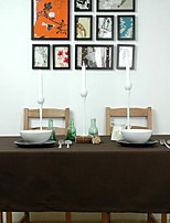 Nordic Pure Color Canvas Cloth Deep Coffee Color Brown Western-style Table Cloth for Cafe Shop(140 * 140 cm)