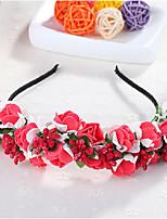 Donne Schiuma Copricapo-Matrimonio Ghirlande di fiori 1 pezzo Porpora / Blu / Rosa / Rosso Fiore 50cm