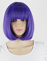 Harajuku Lila Purple Cosplay Full Wigs Short Straight Synthetic BOB Party Bangs Hair wig stock