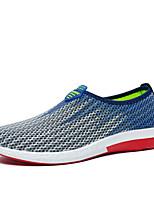 Herren-Sneaker-Outddor / Lässig-Wildleder / Tüll-Flacher Absatz-Komfort / Rundeschuh / Flache Schuhe-Blau / Gelb / Grau