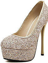 Women's Heels Spring/Summer/Fall /Winter Heels Glitter Wedding / Party & Evening Stiletto Heel Glitter Gold