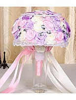 Wedding Flowers Round Roses Bouquets Wedding Satin 9.45