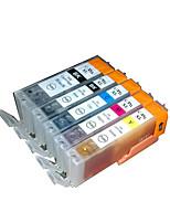 подходит для картриджа принтера группа из пяти цветов черный, красный, желтый, синий, серый