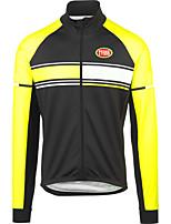 Deportes Bicicleta/Ciclismo Tops Hombres Mangas largasTranspirable / Cremallera delantera / Listo para vestir / Tejido Ultra Ligero /
