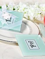White Express Your Love Glass Photo Frame Coasters Favors 2pcs/box / Bridesmaids / Bachelorette / Wedding Keepsakes