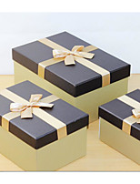 Classic Japanese Style Creative Fine Gold Rectangular Wire Drawing Paper Business Gift Box 3 Sets G01-25