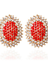1pair/Red/Blue/Black/WhiteStud Earrings forWomen