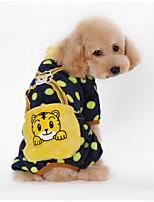 Hunde Overall Schwarz / Rosa / Gelb / Orange Winter Gepunktet / Karton warm halten, Dog Clothes / Dog Clothing-Other