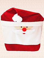 1pc New Year Christmas Santa Claus Cap Chair Cover Decoration Home Dinner Gift