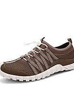 Men's Shoes Tulle Casual Sneakers Casual Fitness & Cross Training Flat Heel Lace-up Black / Blue / Khaki
