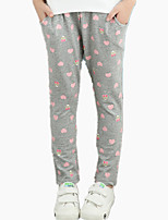 Girl's Casual/Daily Heart Cartoon Bear Print Sports Loose Pants