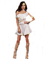 Cosplay Costumes Goddess Movie Cosplay White Solid Dress / More Accessories Halloween / Christmas / New Year Female Polyester
