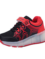 Girl's Sneakers Spring / Fall Comfort Tulle Casual Flat Heel Blue / Pink / Red Walking
